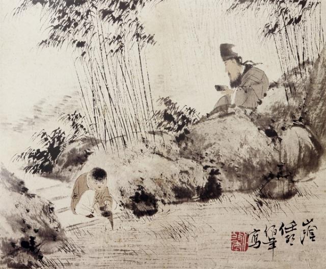竹林速写手绘图