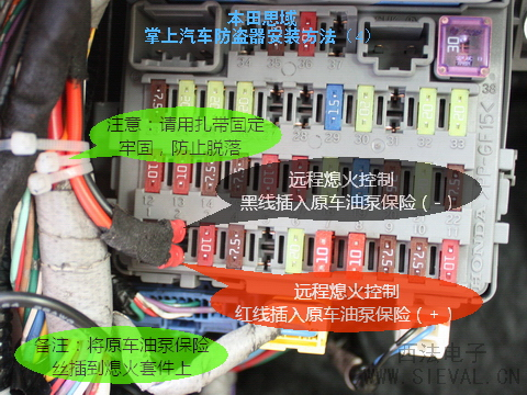 史上超强的本田思域专用防盗器安装作业!申精
