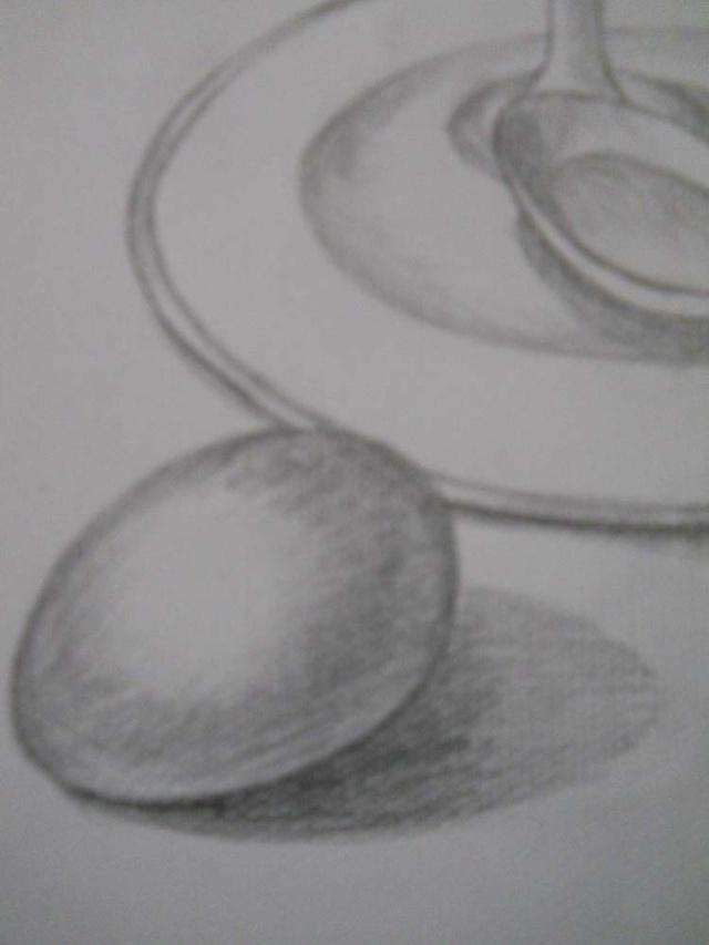素描椭圆切画法图解-如何画素描椭圆_怎样画圆形_倒切图片