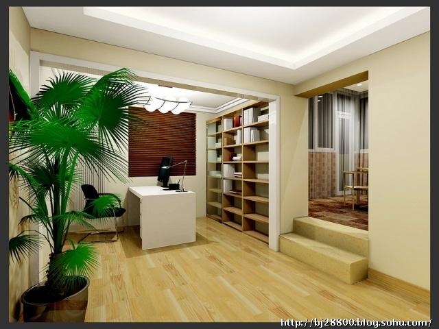 现代简约时尚书房装修效果图