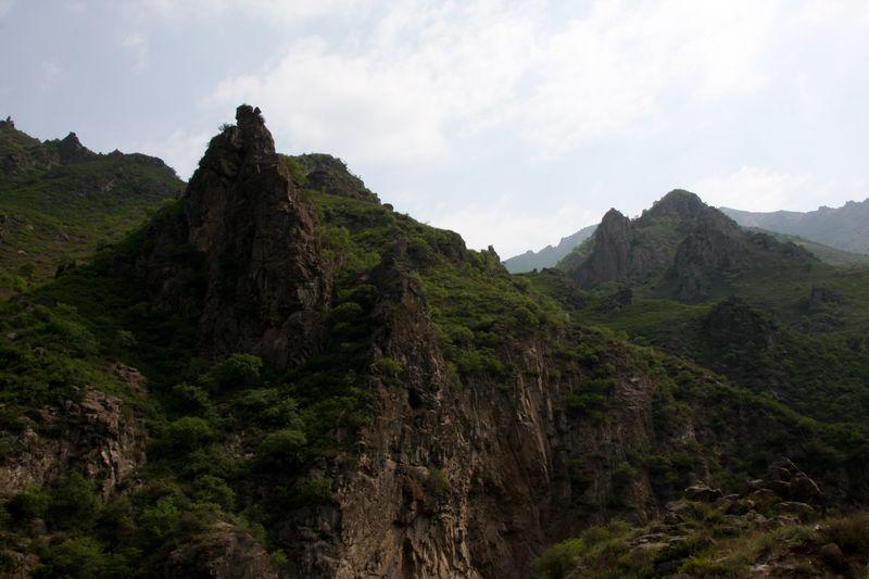 河北蔚县(张家口地区)小五台金河景区的青山