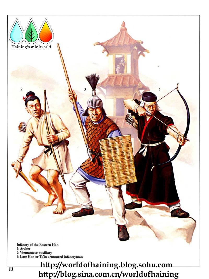 古代士兵射箭简笔画