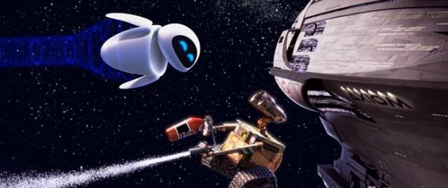 小女机器人eva(伊娃)和小男机器人wall-e(瓦力)