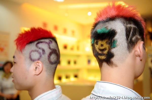奥运发型 为奥运加油图片