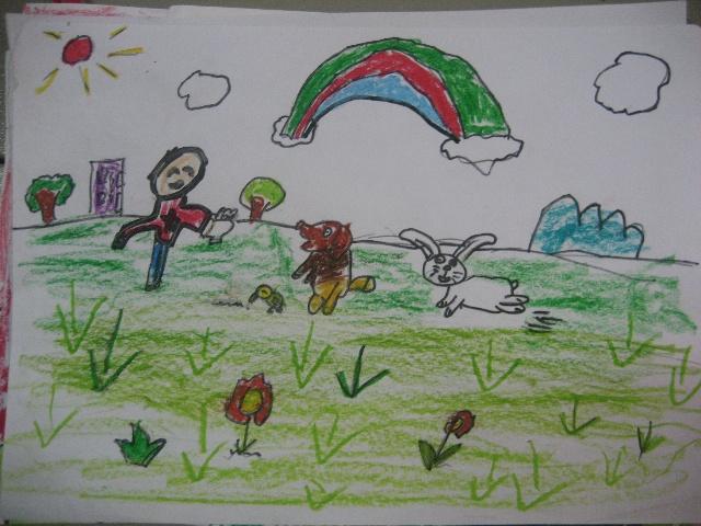 怎样画飞翔的小鸟_爱护动物绘画