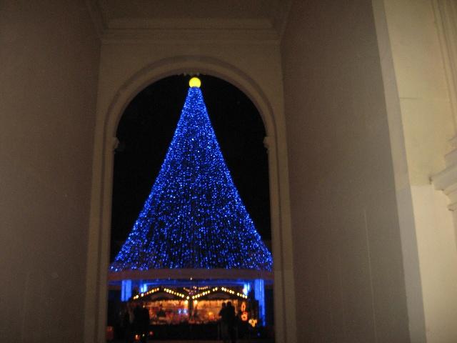 白天的街道上有拥挤的人群,围在小吃摊前的人们,有各种各样的圣诞礼物.但是,我总觉得,真正的圣诞应该是更宁静的,在夜空里,闪烁的小灯,亮着灯的温暖的窗户,围成一桌的家人.这个时候,圣诞老人才会悄悄地出现.也只有这个时候,才是真正的圣诞感觉.晚上出去时.空气特别清新凛冽,却也并不寒冷,街道上很宁静.