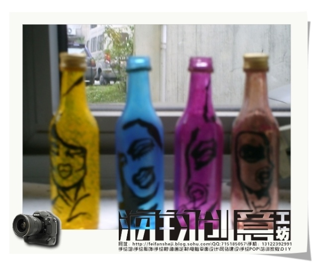手绘瓶子画图片大全_手绘瓶子画图片下载;