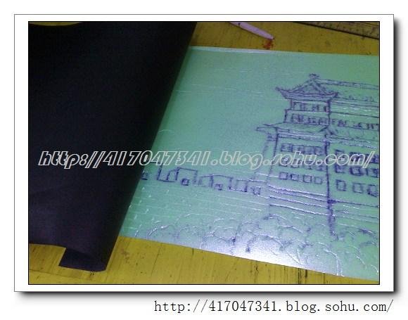 派尔/吹塑纸版画制作过程图/松榆里小学儿童版画/...