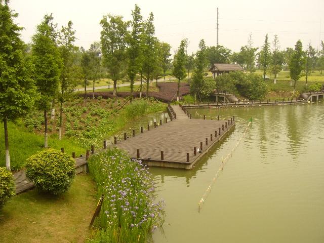 张家港市杨舍镇街景和梁丰生态园