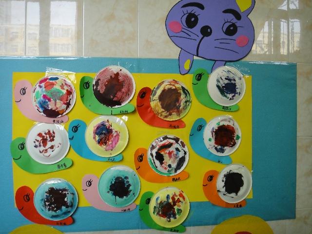 纸盘蜗牛画画图片