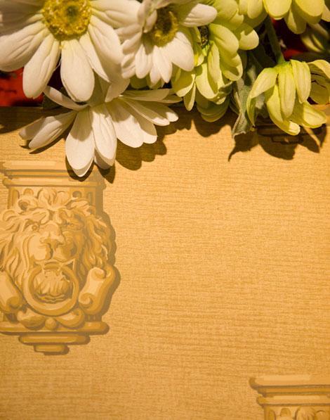 柔然欧式狮子图案纯纸壁纸