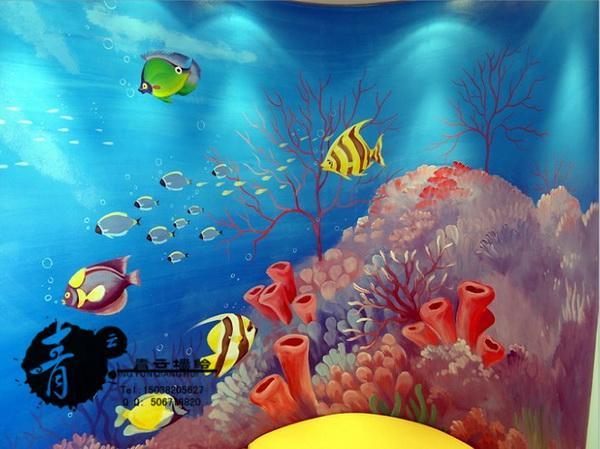 海洋墙体彩绘图片大全