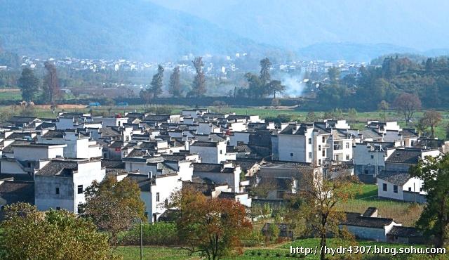 安徽卢村风景色彩