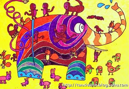 黄嵩杰《大象和小动物》