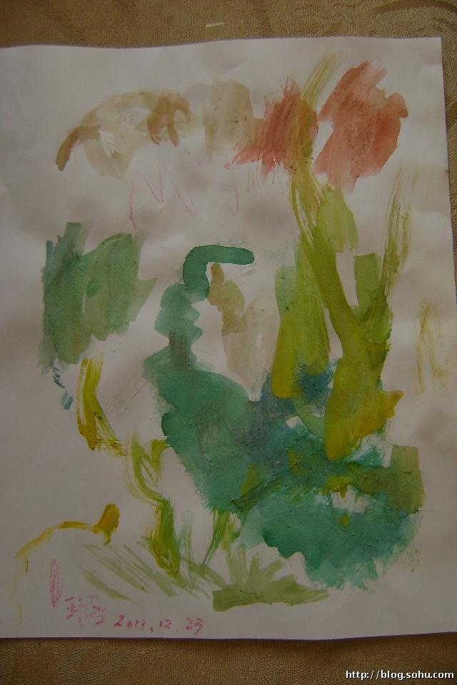 女儿的 抽象画