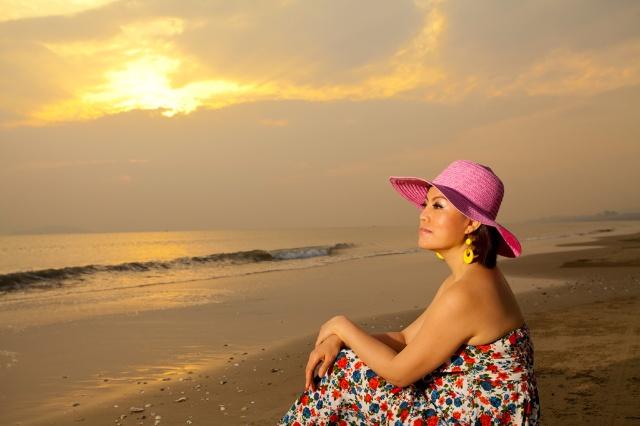 我在三亚海边的梦幻写真