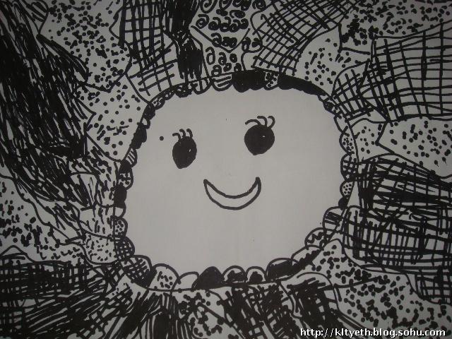 太阳——黑白装饰画图片