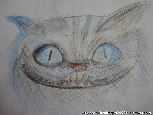 彩铅画:愤怒的小猫