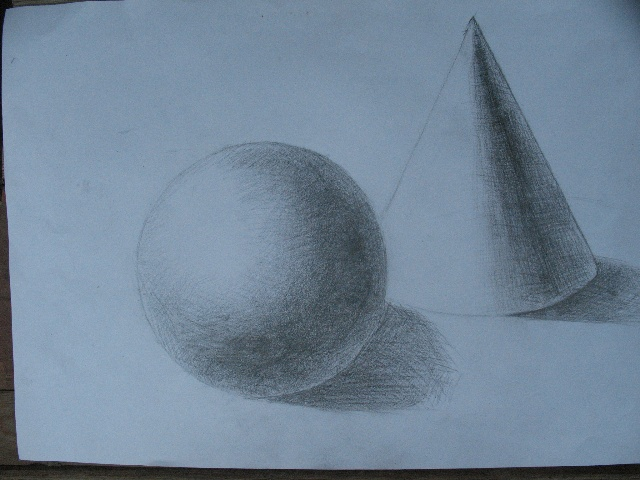 彬儿的素描 几何体组合
