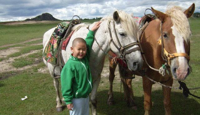 七月,我和爸爸妈妈去赤峰的草原玩. 我在赤峰玩得很开心.
