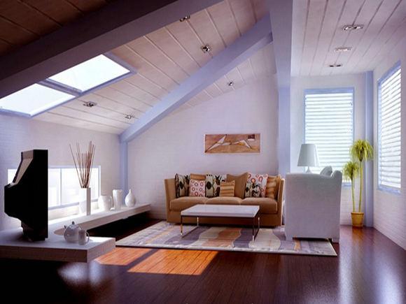 客厅斜面欧式吊顶
