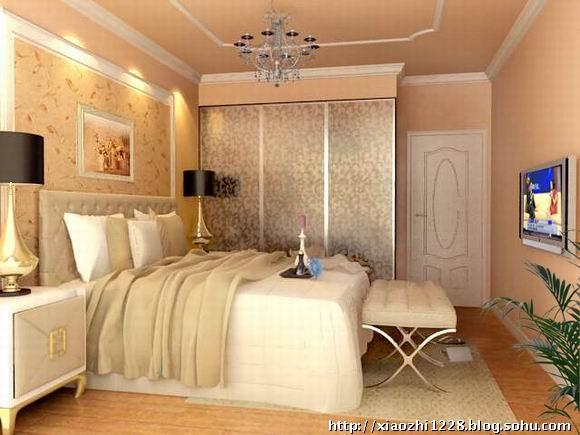欧式卧室墙漆效果图