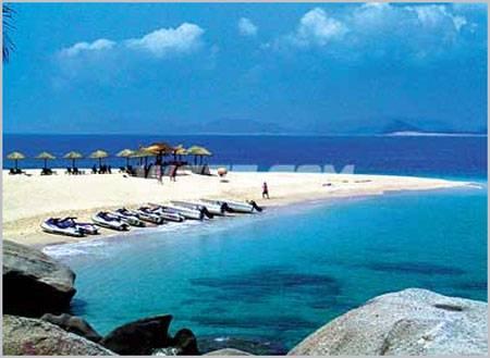 分界洲岛所处位置是海南岛重要的分水岭