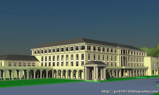 学院派建筑夜景设计