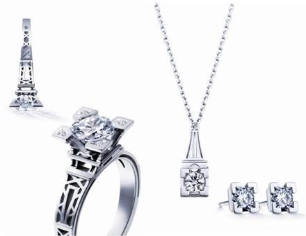 代表浪漫与珍贵的埃菲尔铁塔为灵感的ido香榭之吻