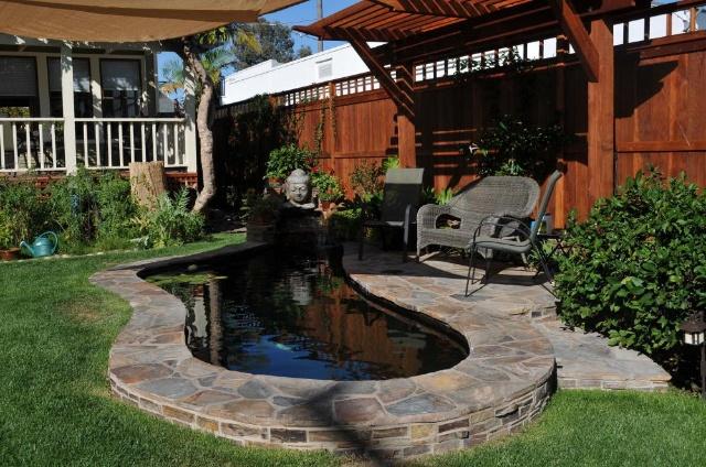 别墅花园锦鲤鱼池设计施工