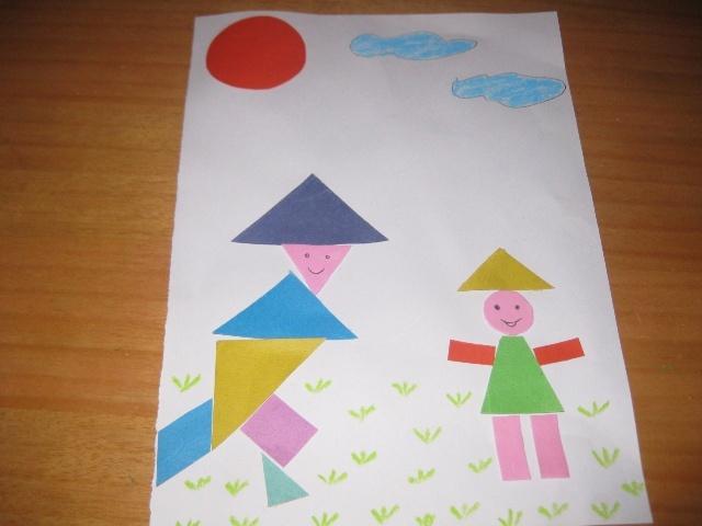 正方形,三角形,梯形,圆形图片