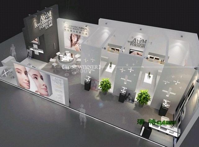 店面装修效果图 艾文赋活化妆品店面设计 店面装修效果图lf